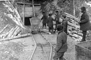 Prisoners mine gold at Kolyma, the most notorious Gulag camp in extreme northeastern Siberia. Courtesy of the Central Russian Film and Photo Archive.