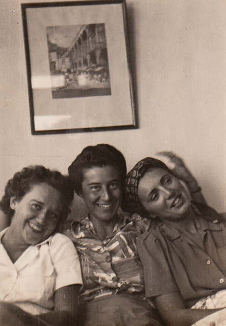 A photograph of Eliska's taken in Rio--my grandmother, Caroline, at center. During WWII, Caroline worked for the American Embassy in Rio, where she met my grandfather. She and Eliska got along well, and to this day, speak very highly of one another.