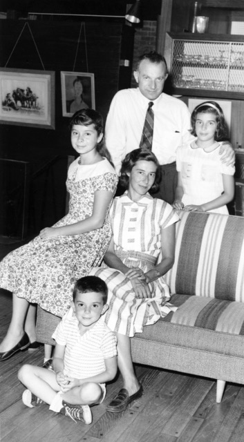 My grandparents and their three children, Kathleen, Isabelle and Tim, 1957