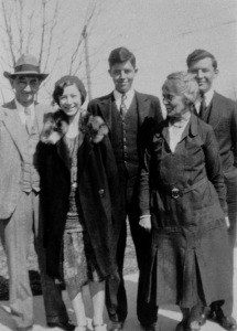 Caroline (second from left) with her parents and two of her three brothers, Henry and Venable Martin