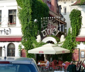A café in Krakow's well preserved Old Jewish Quarter