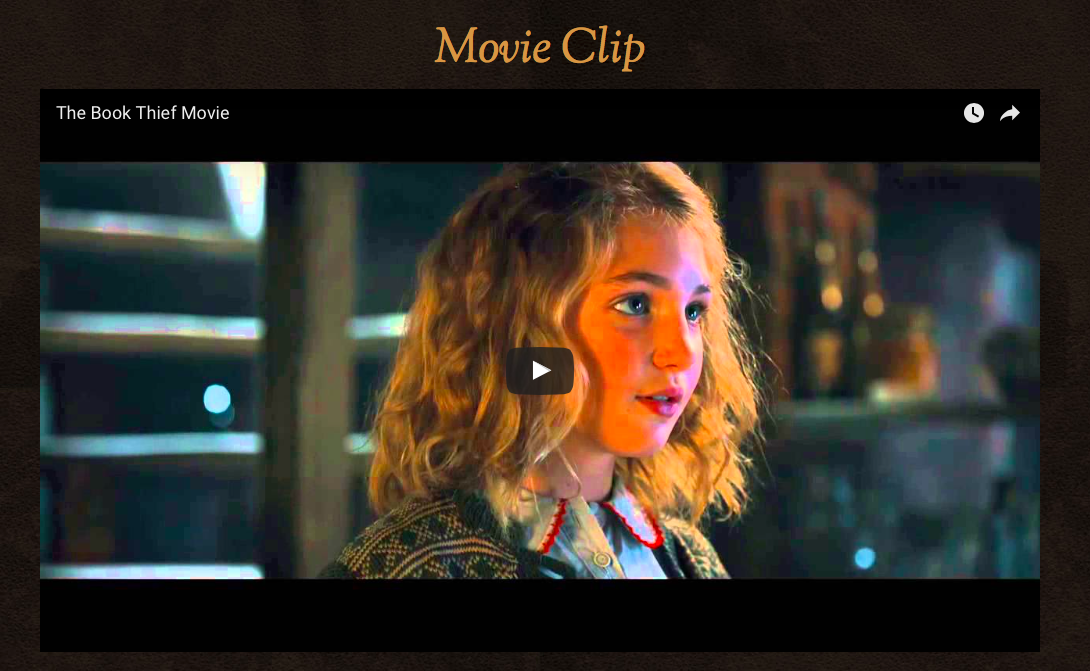 Movie Clip for The Book Thief
